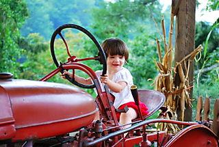 Barrett on the tractor
