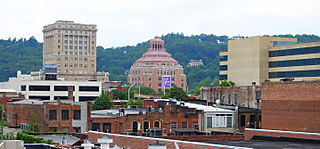 Asheville skyline at Bele Chere