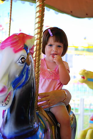 Barrett on the carousel