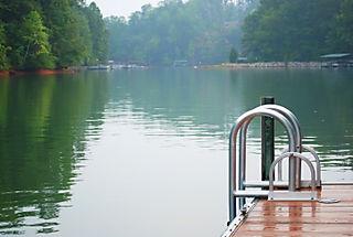 Ladder and lake