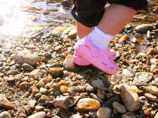 Rocks, feet, evening sun