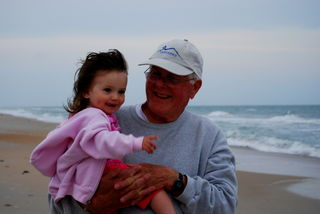 Dad and Boo Bear at Topsail