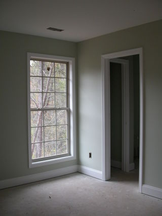 Master bedroom, door to bath