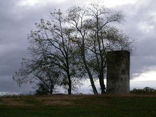 Silo, abandoned farm