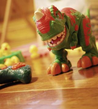 Owen's remote-control dinosaur