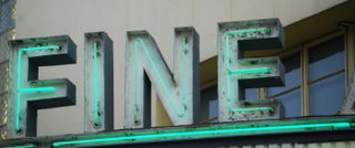 Fine (Fine Arts Theater sign, Asheville, NC)