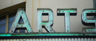 Arts (Fine Arts Theater sign, Asheville, NC)