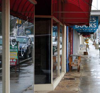 Downtown Andrews, NC sidewalk