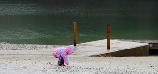 Finding treasures, Nantahala Lake, Rocky Branch Boat Ramp
