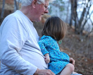 Sitting with Grandpa