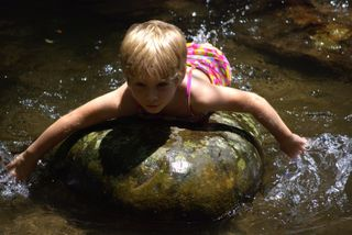 Swimming rock