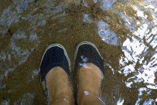 Getting my feet wet