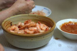 Shrimp feast