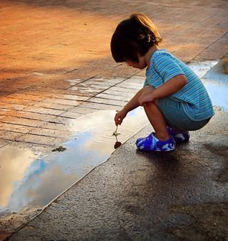 Puddle girl