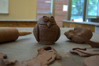 In the ceramics studio