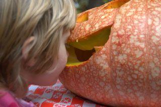 Owen's pumpkin at the party