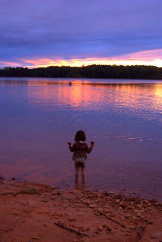 Sunset girl (and kayaker)