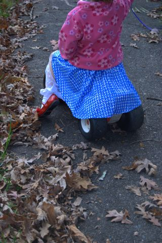 A modern Dorothy provides her own transportation