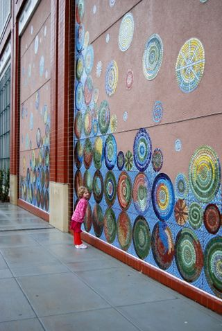 """Effervescence"": Mosaic mural, downtown Charlotte, NC by Jeannette Brossart"