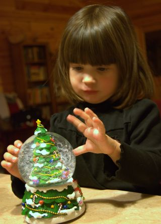 With this snow globe I will tell your future...