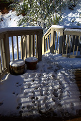 Porch in snow