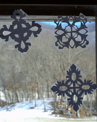 Snowflakes on our windows