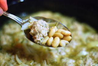 Italian Wedding Soup in my slow cooker