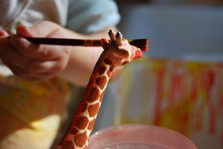Giraffe needs a little touch-up