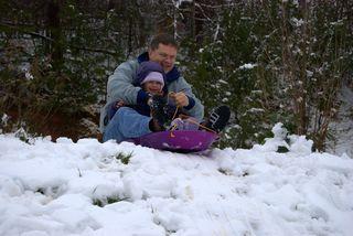 Sledding with Daddy