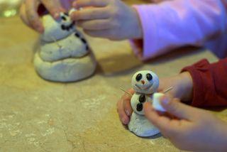 Snowmen ready to play