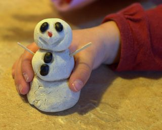 Salt-dough snowman