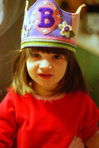 Barrett in her birthday crown