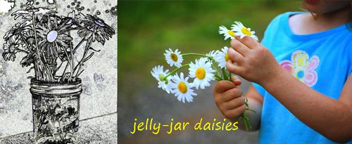 Jelly Jar Daisies Banner