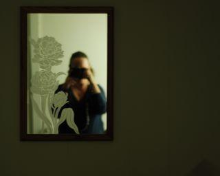 Self-portrait. My mother's basement.