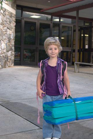 Owen's first day at school