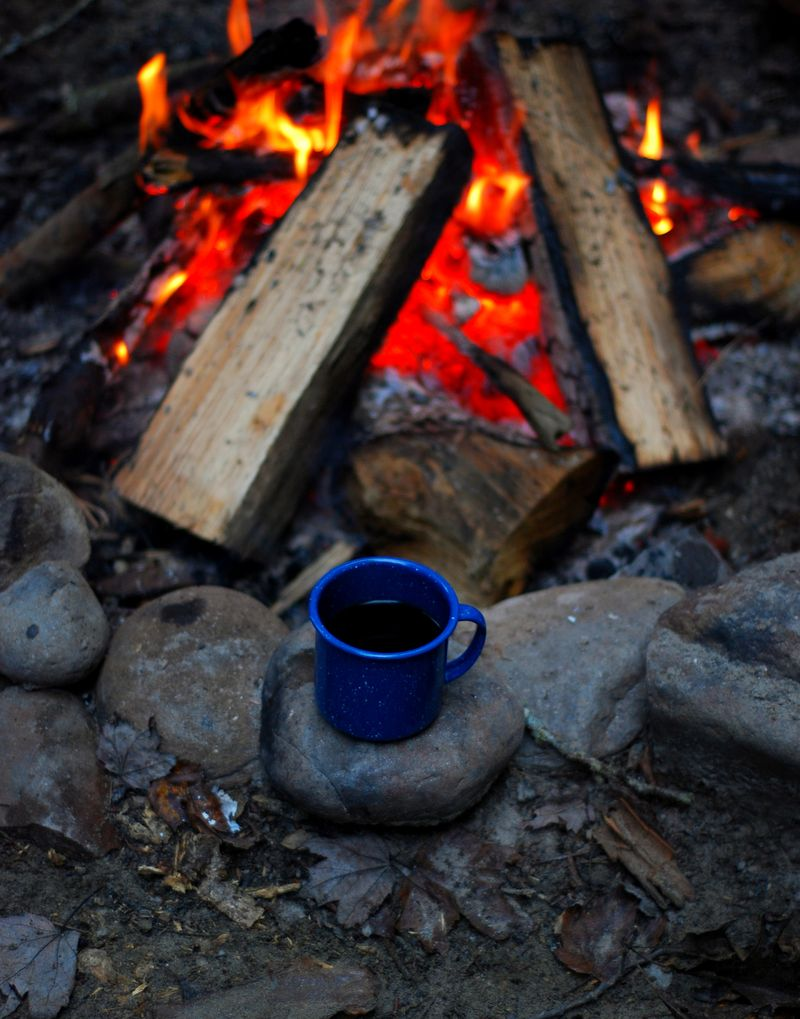 Campfire and coffee