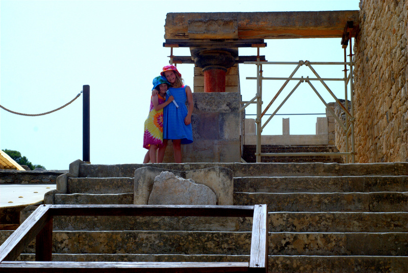 At the archaeological site of the Palace of Knossos