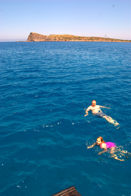 Paul & Owen swimming in the Aegean Sea